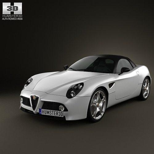 2018 Alfa Romeo 4c Spider Interior: Alfa-Romeo 8c Spider 2011 3D Model