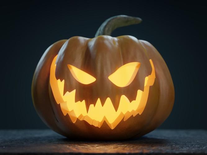 Halloween pumpkin jack o lantern d evil cgtrader