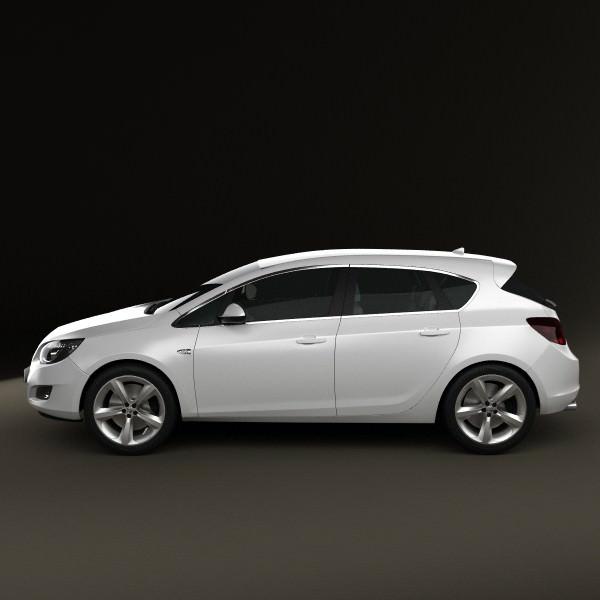 Vauxhall Astra Hatchback 5-door 2011 3D Model MAX OBJ 3DS