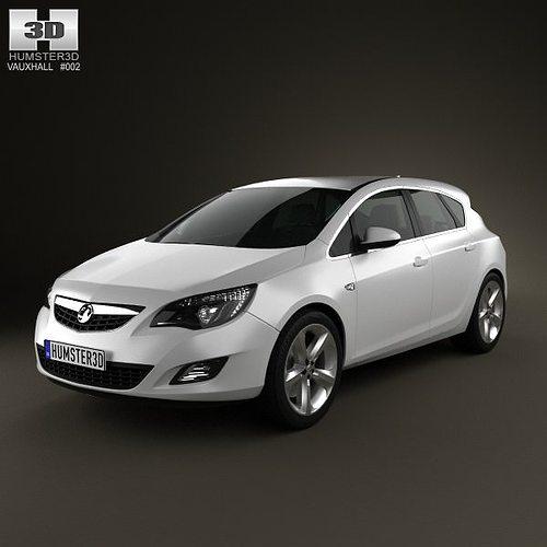 Vauxhall Astra Hatchback 5-door 2011 3D