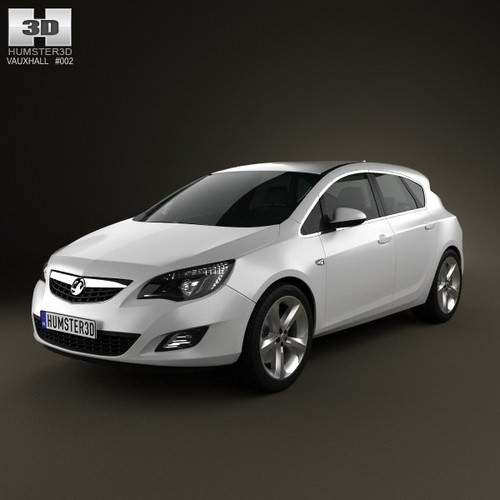 Vauxhall Astra Elite Nav Estate Sports Tourer: Vauxhall Astra Hatchback 5-door 2011 3D Model .max .obj