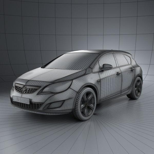 Vauxhall Astra Hatchback 5-door 2011 3D Model .max .obj