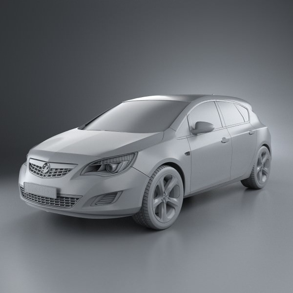 Vauxhall Astra Hatchback 5-door 2011 3D Model .max .obj