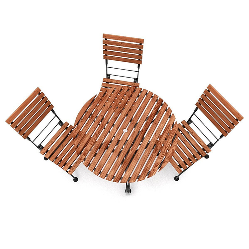 ... Garden Furniture Set 3d Model Obj Fbx Blend 2 ...