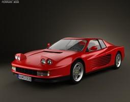 Ferrari Testarossa 1986 3D Model