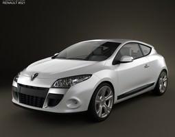 3d model renault megane coupe 2011
