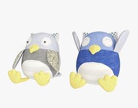 3D model Plush Scrappy Hoot Owl
