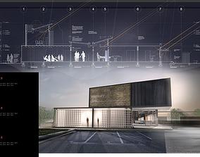 3D model Veterinary Clinic Building