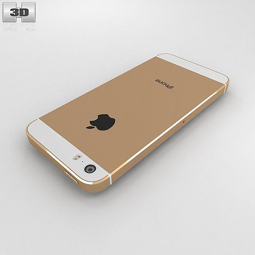 iphone 5s gold. apple iphone 5s gold 3d model max obj 3ds fbx c4d lwo lw lws 8