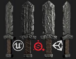 3D asset realtime sword military