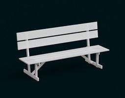 1 10 Scale model - Bench 01 3D Model