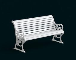 1 10 Scale Model - Bench 03 3D Model