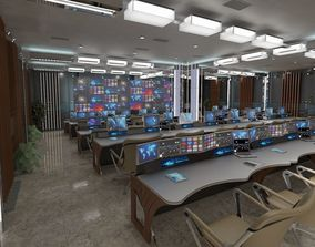 3D model TV Studio Control Room 1