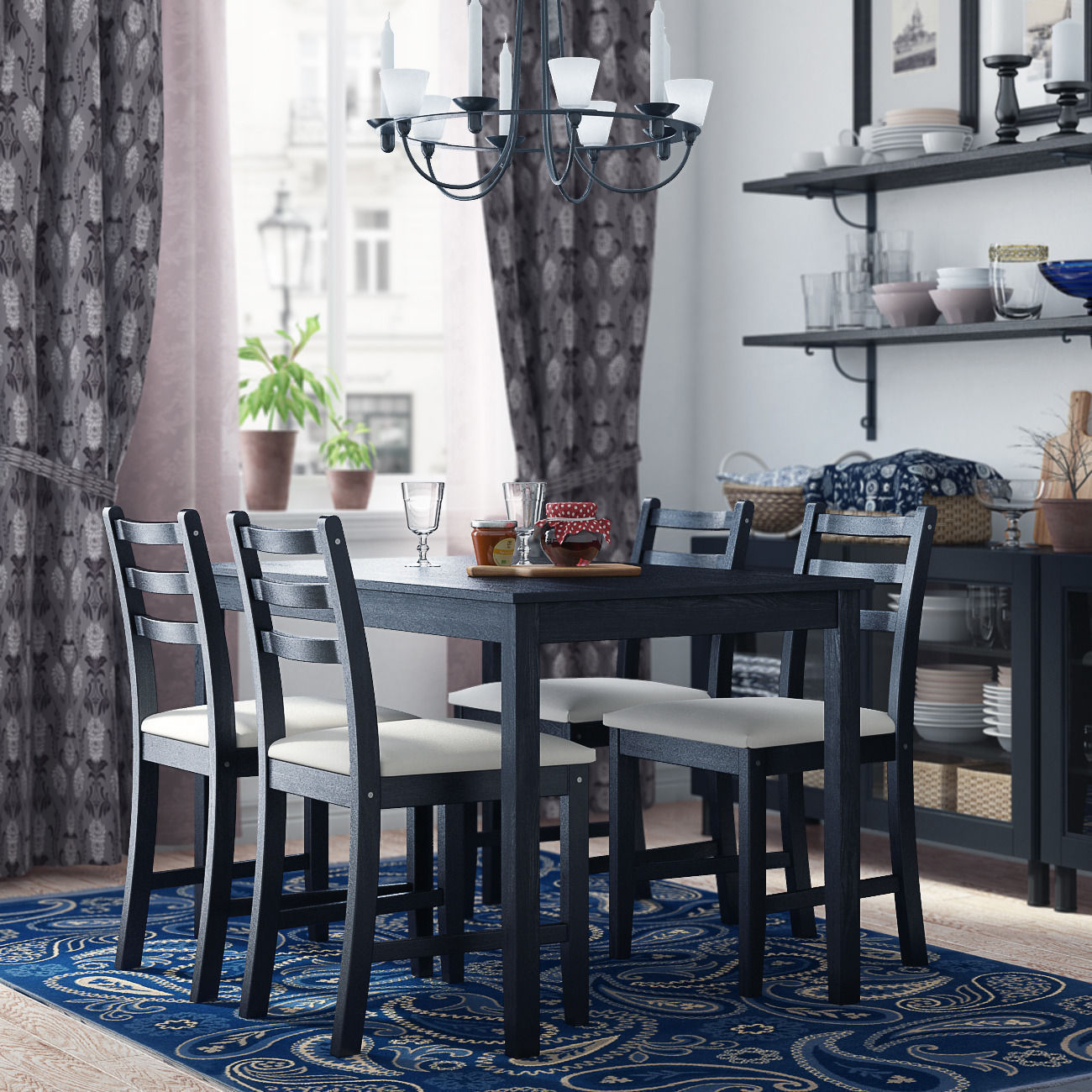 ikea lerhamn dining room 3d model ikea lerhamn dining room modeling in