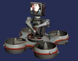 hoverbot trackbot robot 3d model max fbx