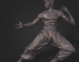 Bruce Lee Statue 3D model 3D Model