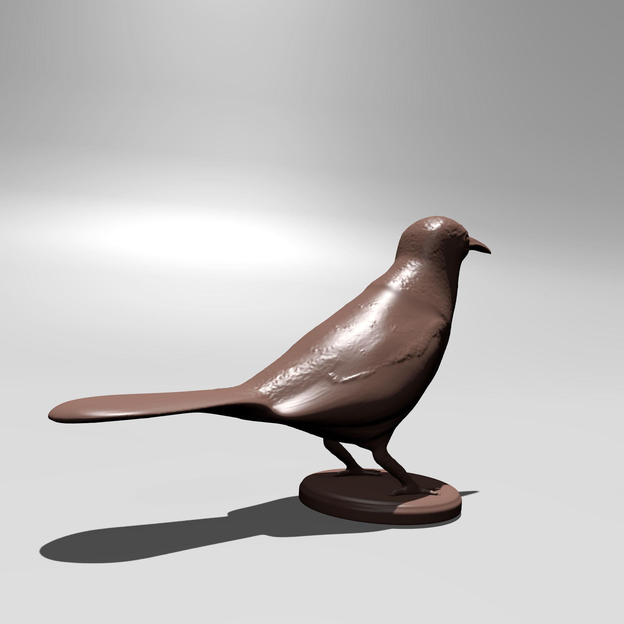 3d Printable Bird 3D Model 3D Printable .stl