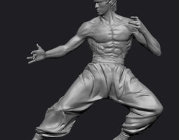 Bruce Lee Statue Zbrush 3D Model