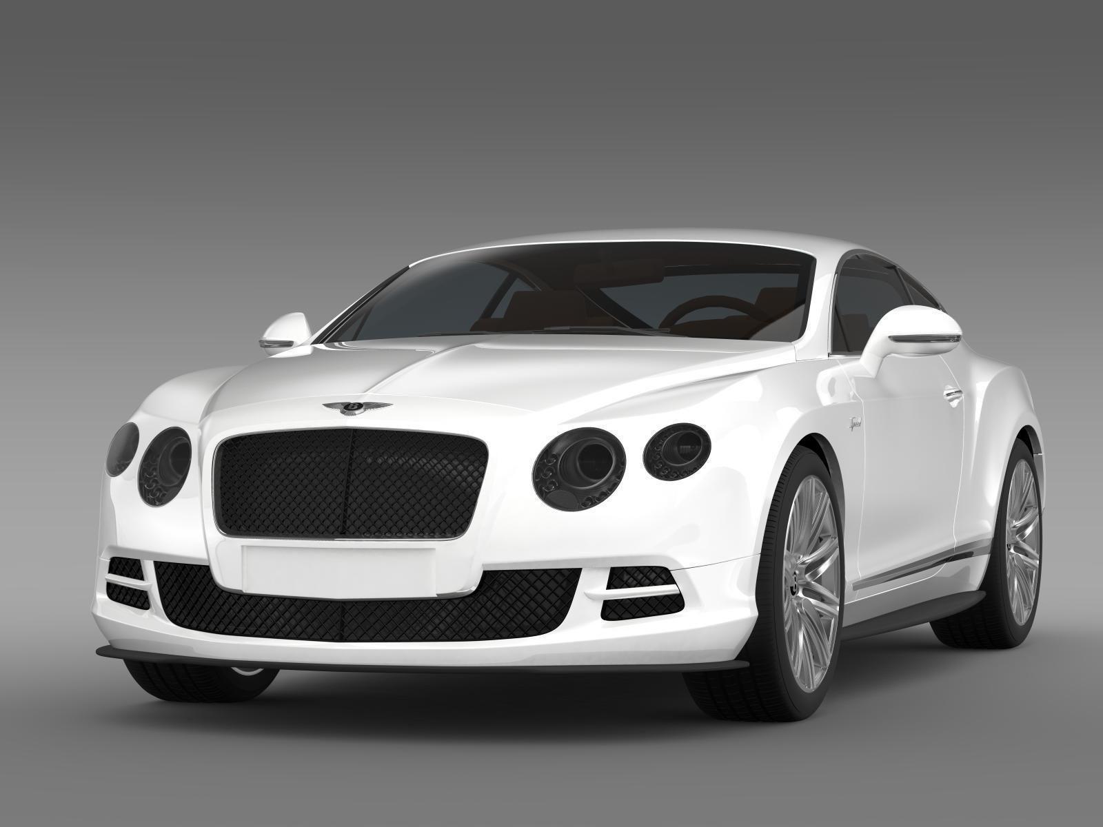 ... Bentley Continental Gt Speed 2014 3d Model Max Obj 3ds Fbx C4d Lwo Lw  Lws 5 ...