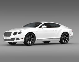 Bentley Continental GT Speed Le Mans Edition 2013 3D Model