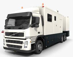 3d model  volvo fm detection vehicle animated