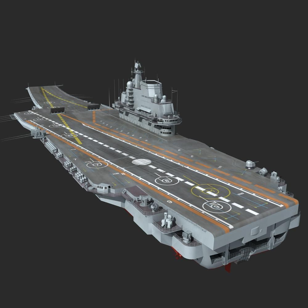 Chinese Liaoning Aircraft Carrier 3d Model Max Obj Fbx