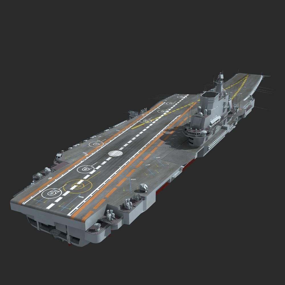 Chinese Liaoning Aircraft Carrier 3D Model .max .obj .fbx ...