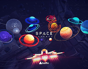 Space Journey 3D asset