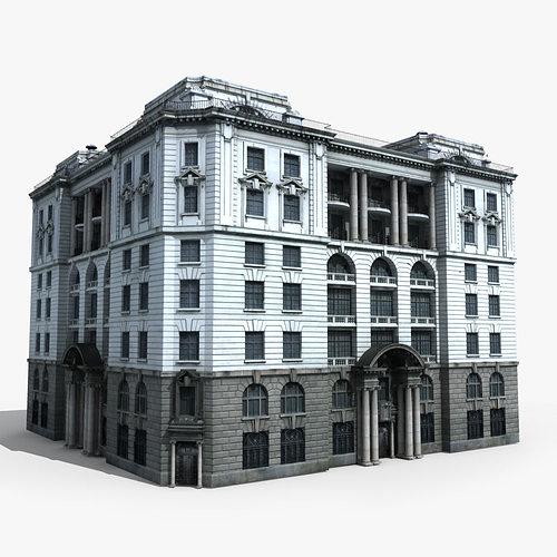 3d Model House Building Residential: European Building 3D