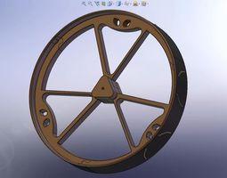 180mm Diameter MegaBoeBot Wheel Kit 3D Model