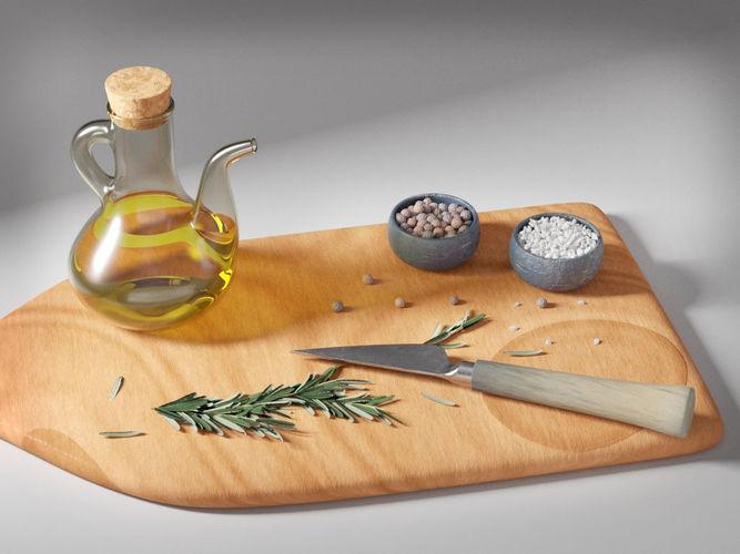 olive oil seasonings set 3d model obj mtl fbx ma mb 1