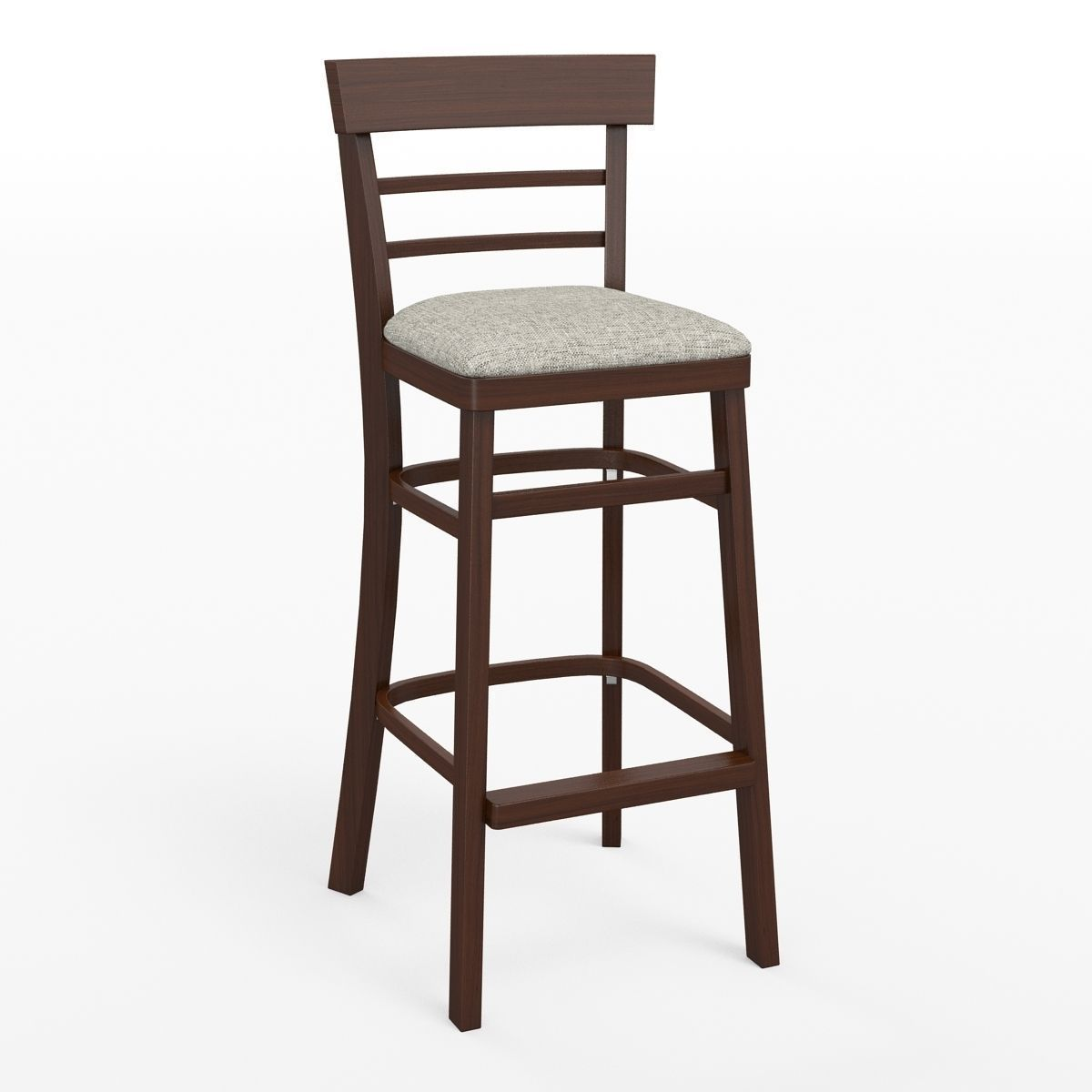 wooden bar stool 3d model max obj fbx 1