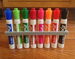 8-count dry erase marker holder 3d printable model