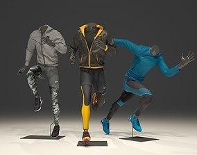 Man mannequin Nike pack 3 3D model