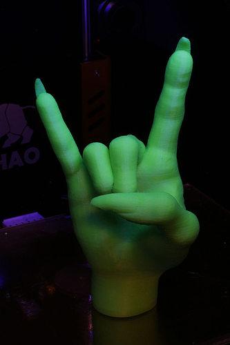 devil horns gesture witch 3d model stl 1