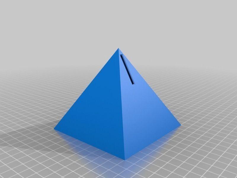 pyramid piggy bank free 3d model 3d printable  stl