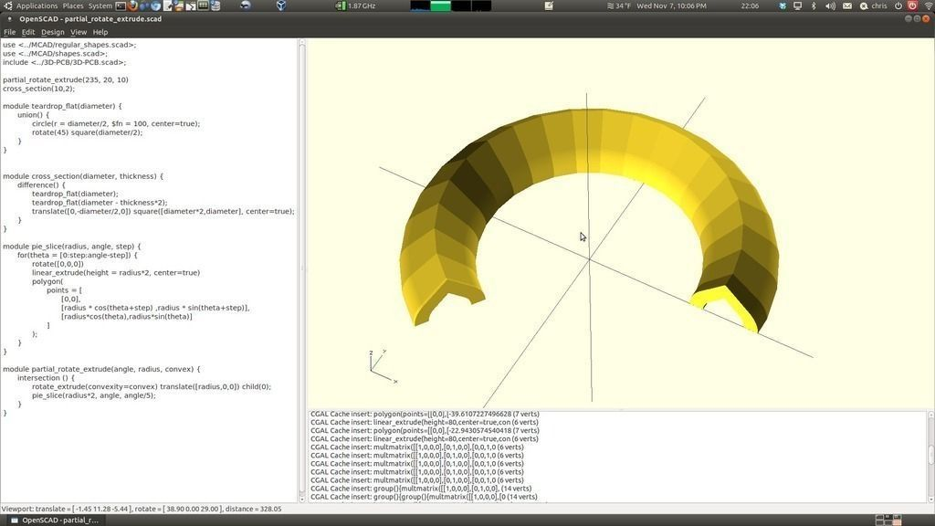 3D print model Partial Rotate Extrude OpenSCAD | CGTrader
