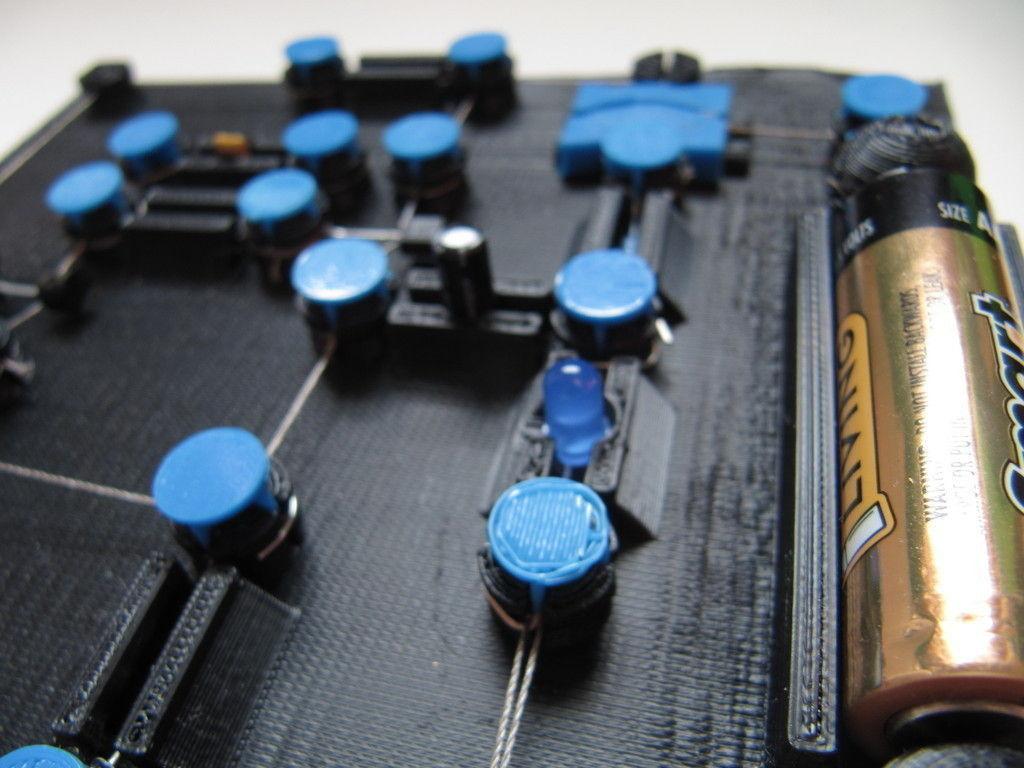 3d Printed Circuit Board V0 2 Cgtrader Simple Model Stl