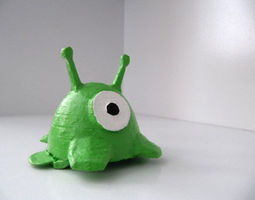 Brain Slug Hair Clip 3D Model