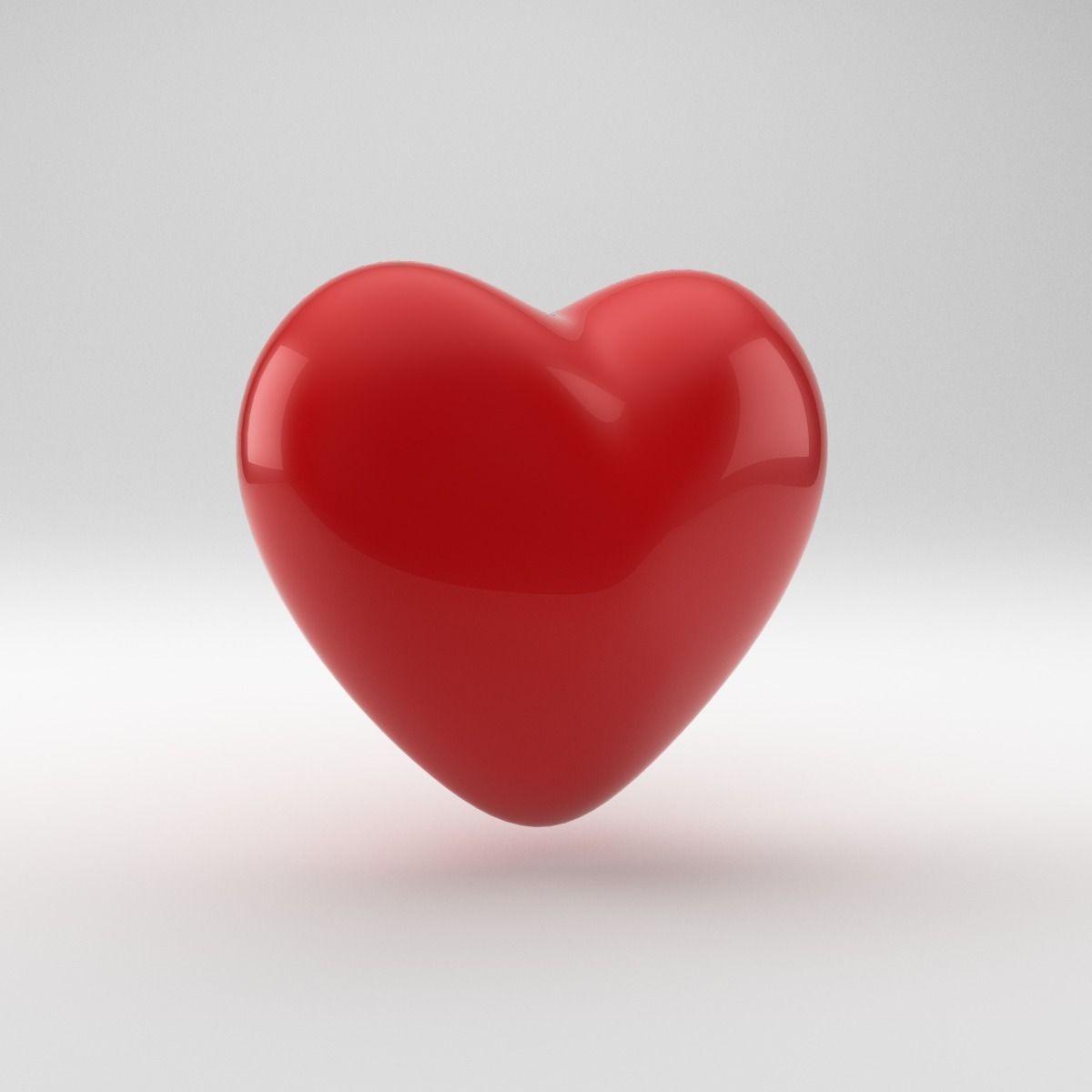 Heart Shape 3D Model .obj .3ds .fbx .blend .dae - CGTrader.com