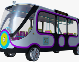 Smart Minibus 3D model vehicle