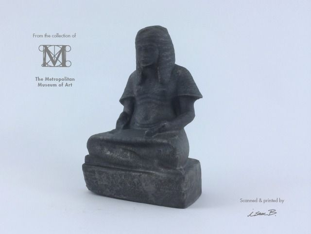 haremhab as a scribe of the king 3d model stl 1