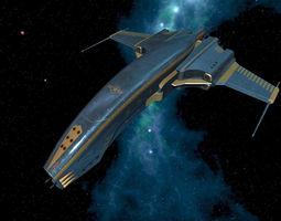 Spaceship Dagger Type 1 Blue 3D model