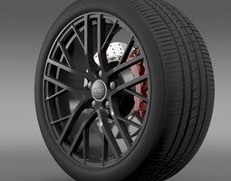 Audi R8 LMX  2014 wheel 3D Model