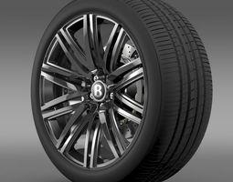 Bentley Continental GT Speed 2014 wheel  3D Model