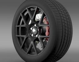 Dodge Challenger RT Shaker wheel 2015 3D Model