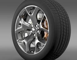 Dodge Challenger SXT wheel 2015 3D Model