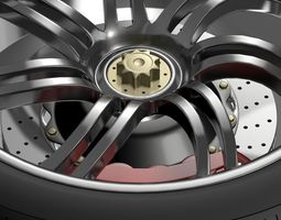 Pagani Huayra wheel 3D Model