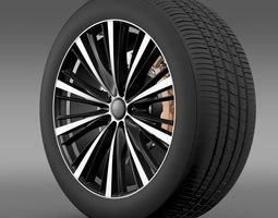 3d model toyota ft 86 open concept wheel 2014