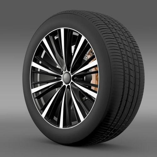 Toyota FT 86 open concept wheel 20143D model